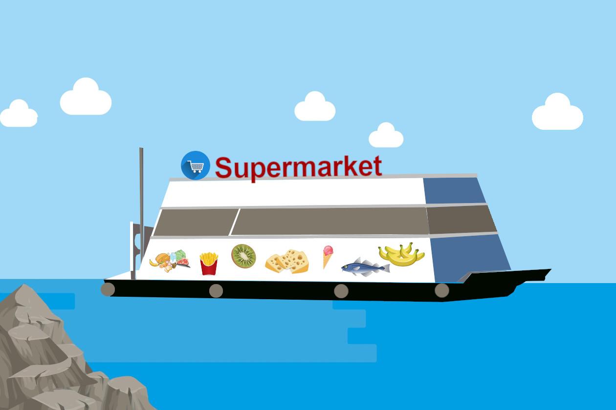 Tο πρώτο πλωτό σούπερ μάρκετ του κόσμου με πρωτοβουλία της Carrefour στο Ντουμπάϊ