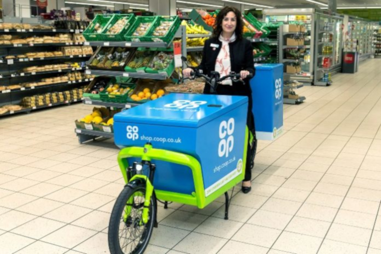 The Co-op launches online delivery with electric bikes